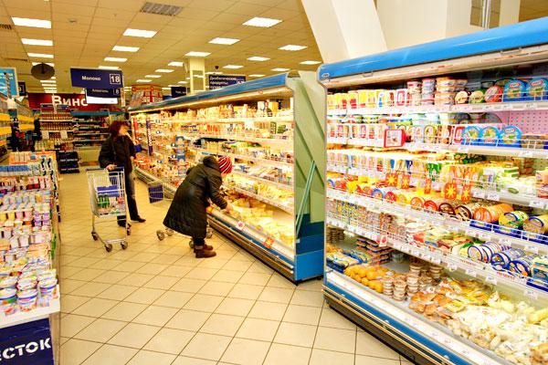 План магазина продуктов в организации
