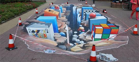 Тротуарная плитка с эффектом 3D
