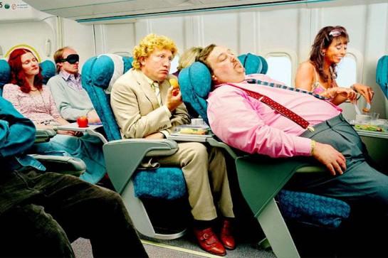 усталость пассажиров в самолете