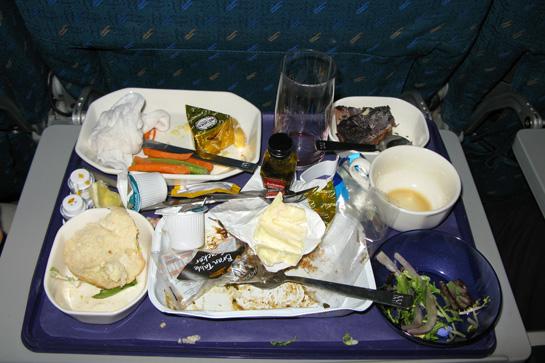Плохая еда в самолетах