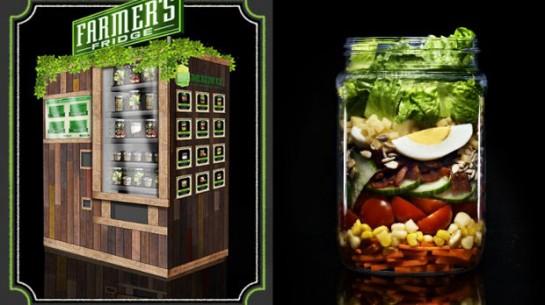 Вендинговые автоматы со свежими салатами Farmers Fridge
