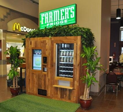 автоматы со свежими салатами Farmers Fridge